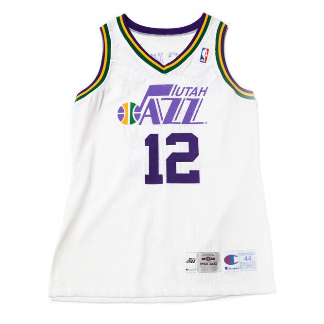 Image of Champion John Stockton Utah Jazz Authentic Home Jersey