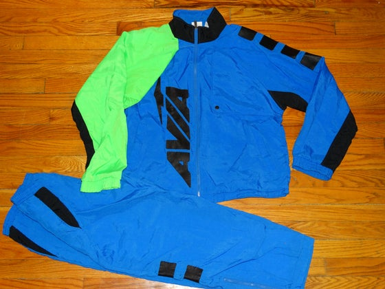 Image of (L) Men's 90's AVIA Multi-Colored Track Suit