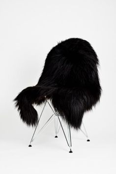 Image of LUXURY BLACK ICELANDIC SHEEPSKIN !!! SIZE XXXL