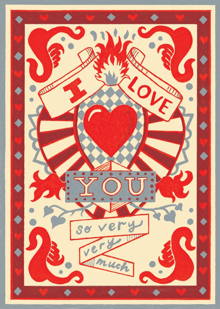 Image of I love you Greetings Card