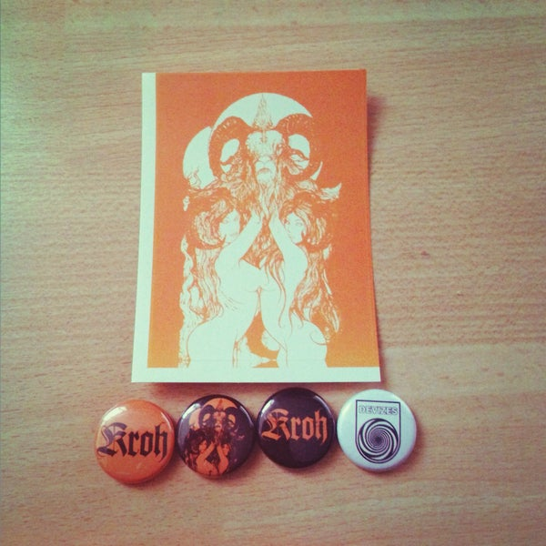 Image of Kroh - badge and sticker set