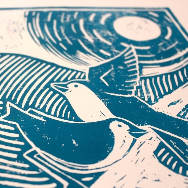 Image of Rhythm Of Dawn - Limited Edition Lino Print