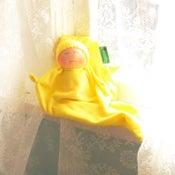 Image of Velour Blanket Doll - Sunshine Yellow/light skin