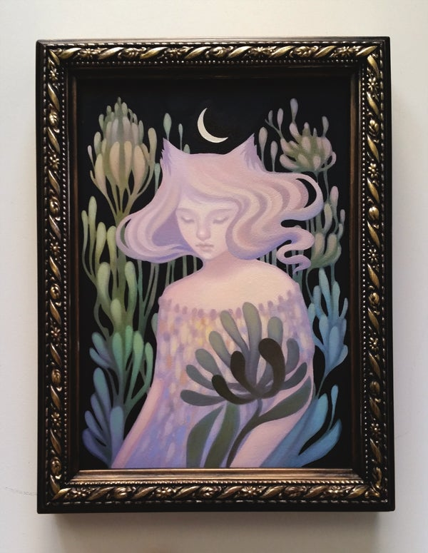 Image of Night Garden I <br><h4>-study-framed-</h4>