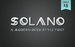 "Image of ""Solano"" Font"