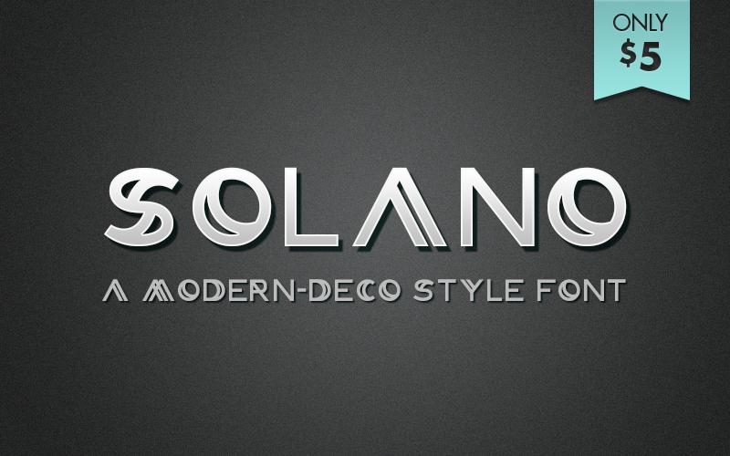 "Image of ""Solano"" Font"