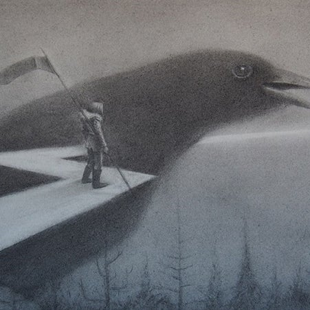 "Image of ""THE MESSENGER"" by Ruel Pascual- Original (14"" x 20"")"