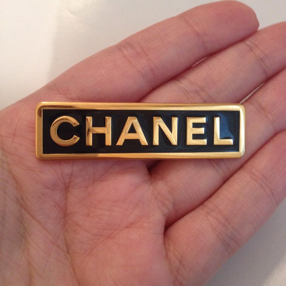 Image of SOLD OUT Chanel Authentic Rectangular Vintage Brooch Pin