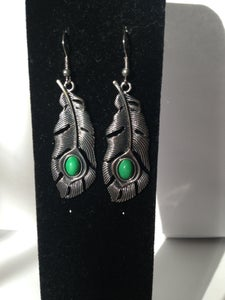 Image of Turquoise Feather (Earrings)