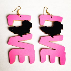 Image of Love/Africa Statement Earrings