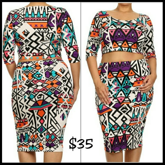 Image of Geometric Aztec 2piece