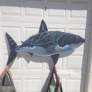 "Image of ""Great White shark cut out"""