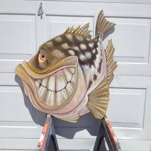 "Image of ""Original large Calico Bass cut out"""