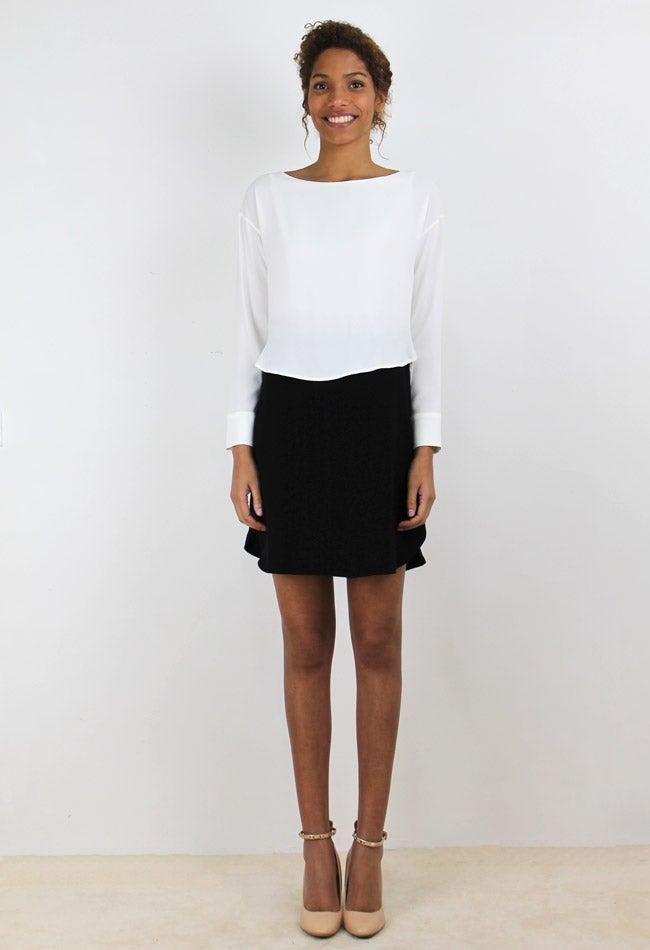 Image of BLACK&WHITE DRESS