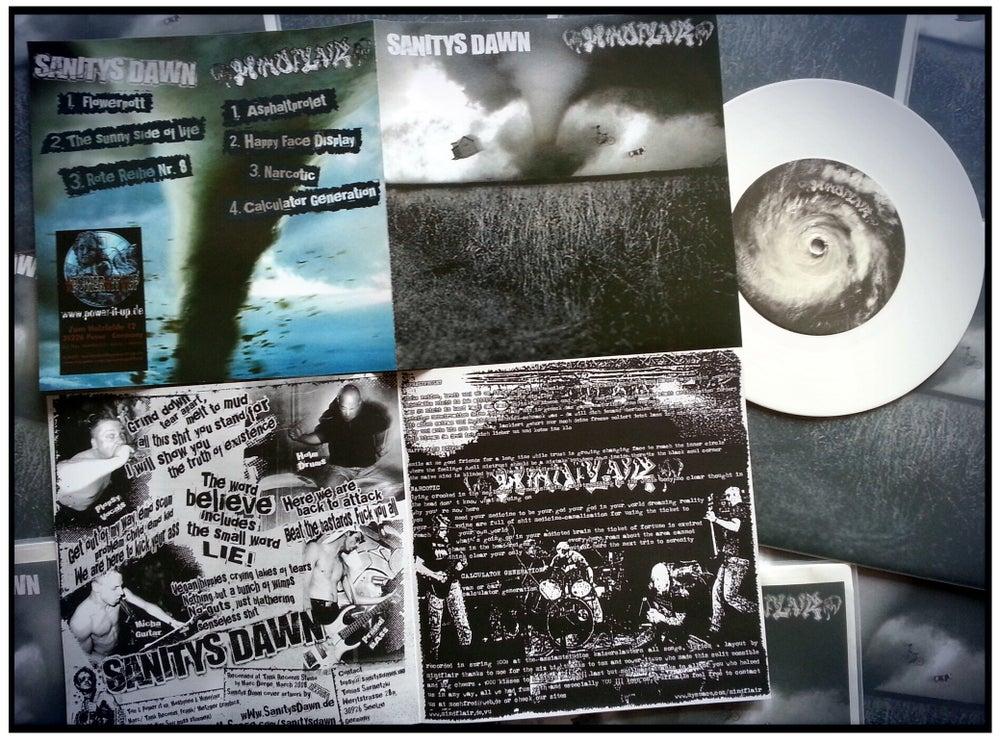"""Image of MINDFLAIR/SANITYS DAWN-split 7"""" white vinyl"""