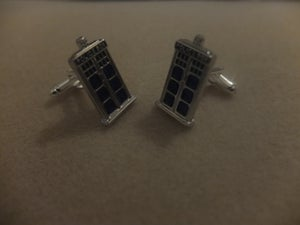 Image of Dr Who Tardis/Police Box Cuff Links