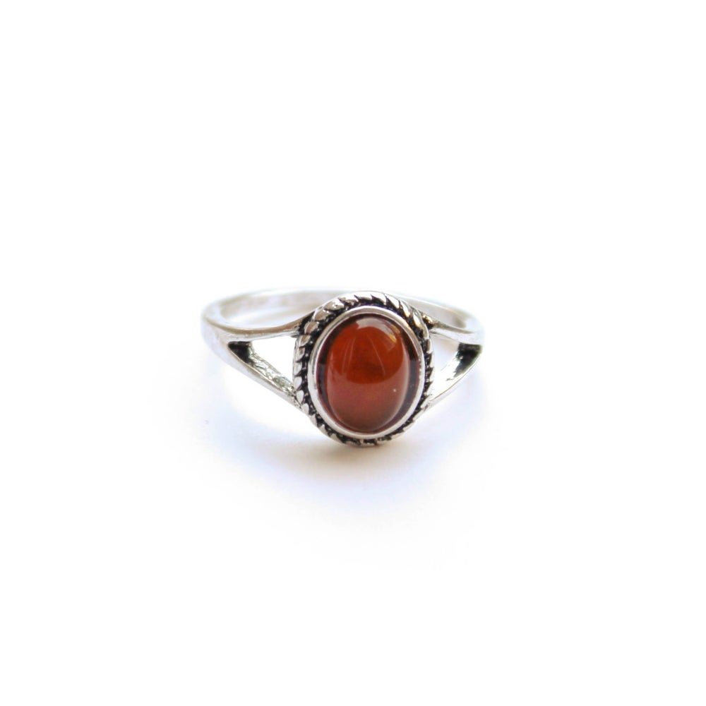 Image of RUBY RED STONE RING