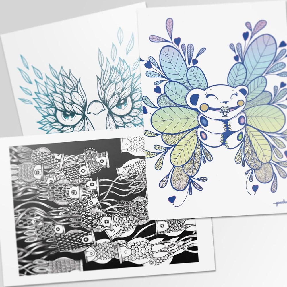 Image of 3 cartes - Ganacha