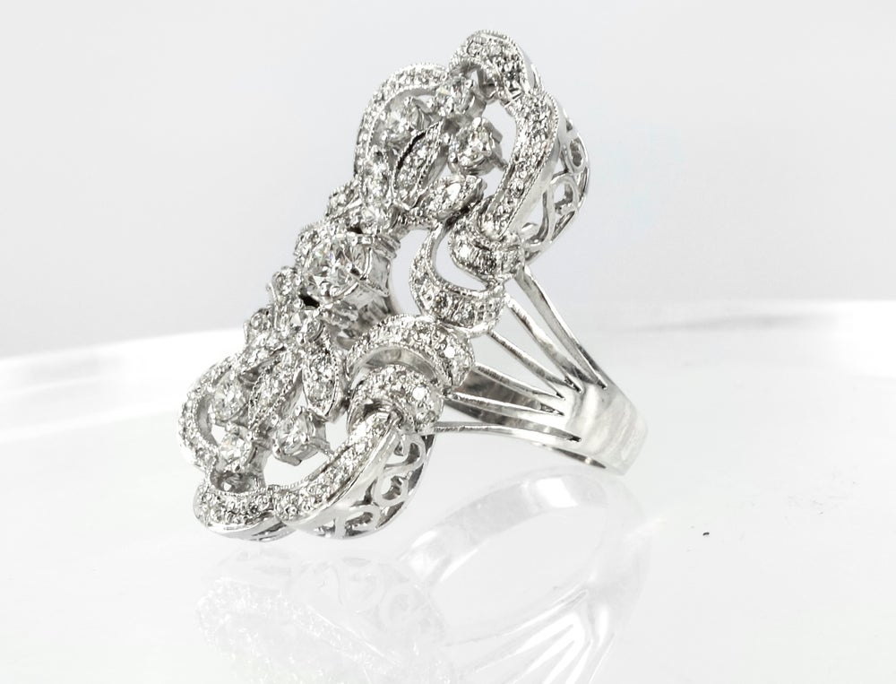 Image of Art Deco cocktail ring