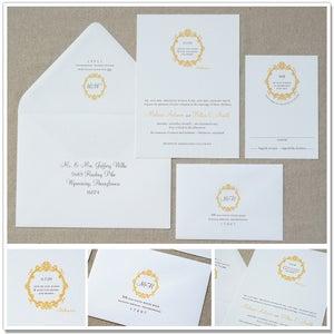 Image of Quote & Wreath Wedding Invitations
