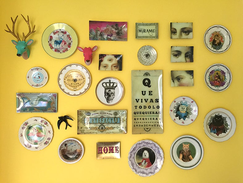 Image of 80s Puppy  - Vintage Porcelain Plate - #0497