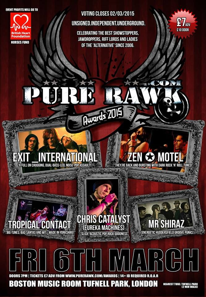 Image of Pure Rawk Awards 2015 Poster