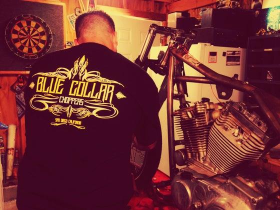 Image of Pinstripe T-Shirt (Black)