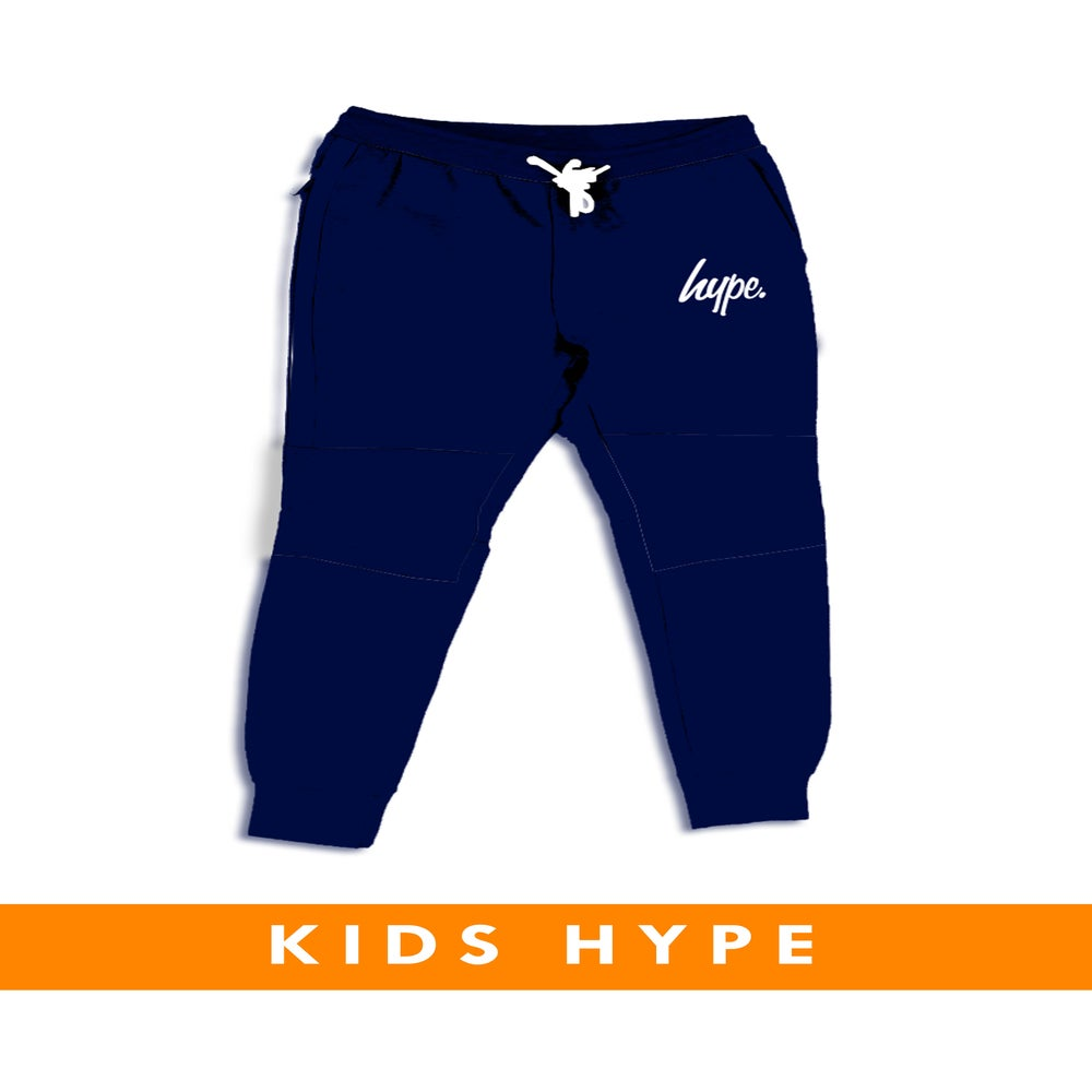Image of HYPE KIDS. NAVY SKINNY FIT JOGGERS