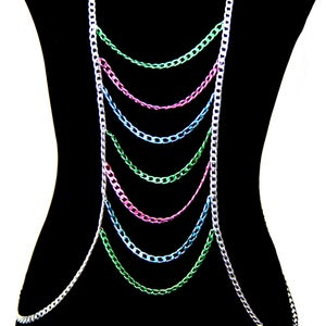Image of Roxy Colored Body Chain Harness