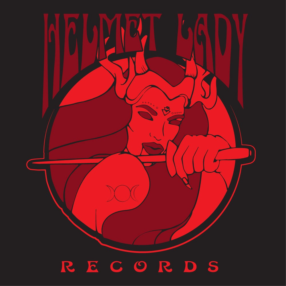 Image of Helmet Lady Records T-Shirt