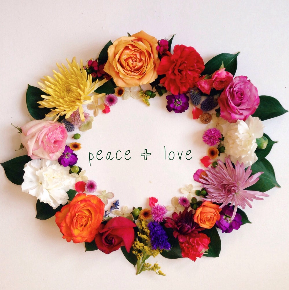 Image of Custom Words - Floral Wreath