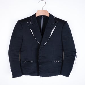 Image of Kazuyuki Kumagai Attachment - Distressed Metal Tuxedo Jacket