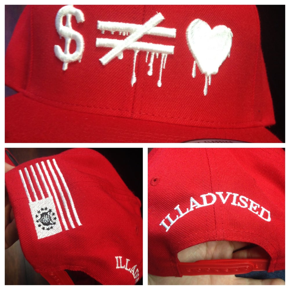 Image of Money is not Equal to Love SnapBack