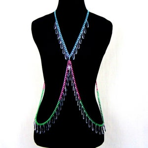 Image of Freya Candied Body Chain Harness w/ Drops