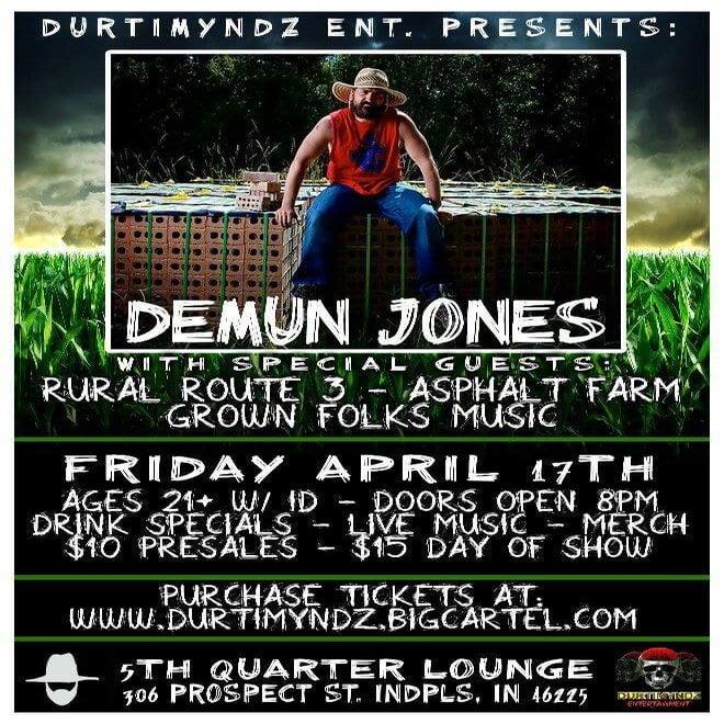 Image of Demun Jones & Rural Route 3 @ the 5th Quarter Lounge