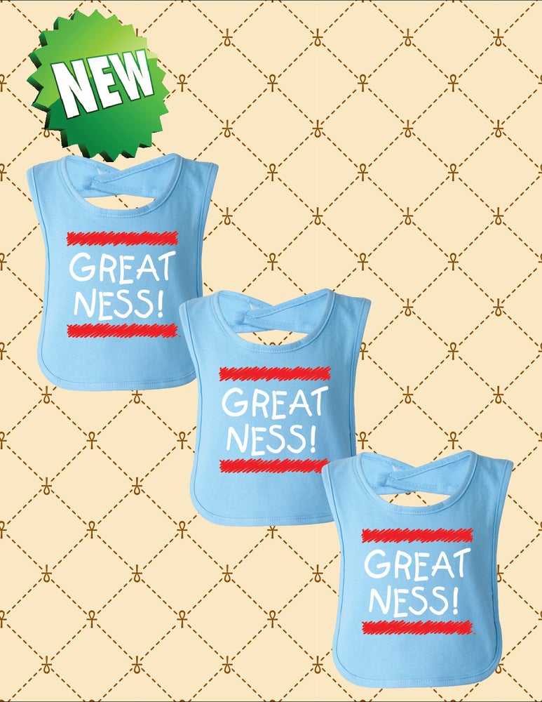 Image of GREATNESS BABY BIB
