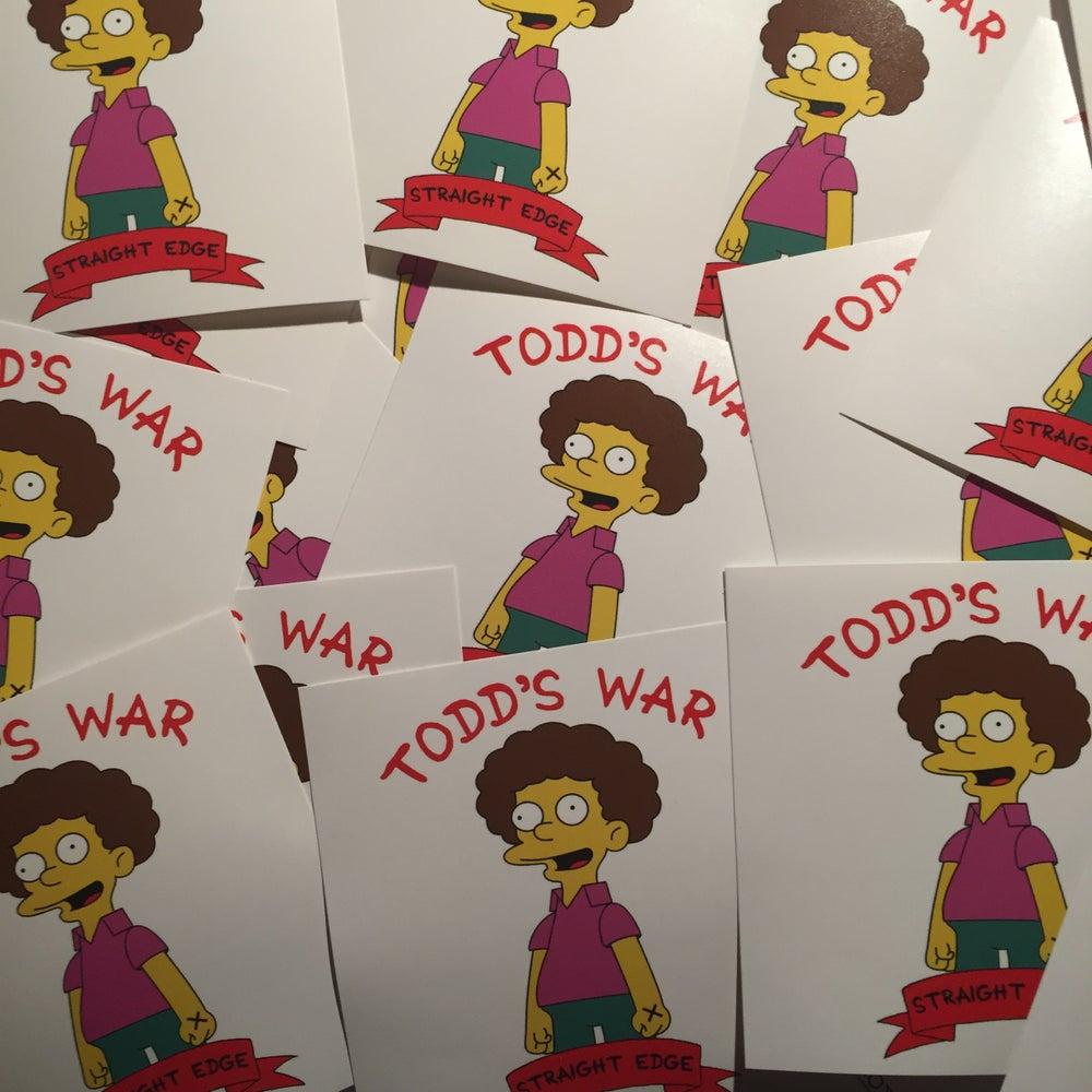 Image of Todd's War Sticker