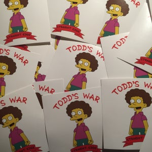 Image of Todd's War Sticker