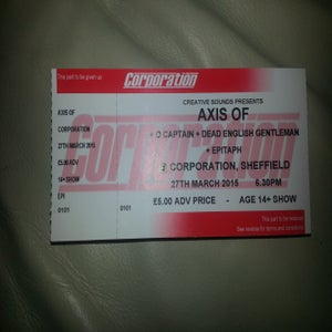 Image of Sheffield Corporation Tickets 27/03/2015
