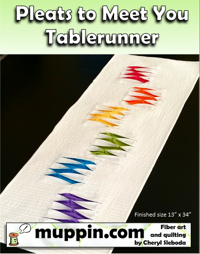 Image of PDF- Pleats to Meet You Tablerunner Pattern