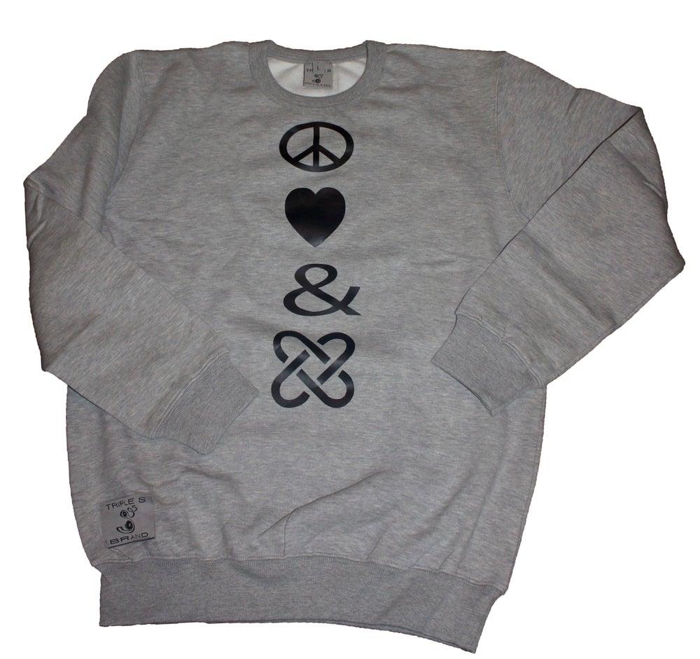 Image of Peace , Love & Unity Sweatshirt (mens)