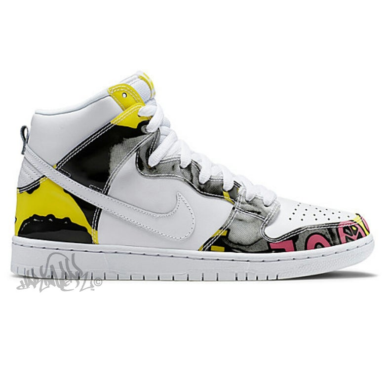 Image of NIKE SB DUNK HIGH PREMIUM - DE LA SOUL - 748751 177