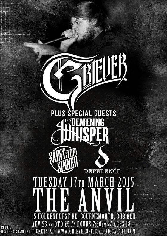 Image of GRIEVER @ THE ANVIL 17/03/15