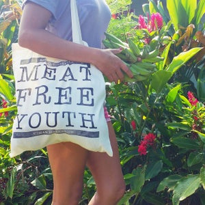 Image of MEAT FREE YOUTH TOTE BAG