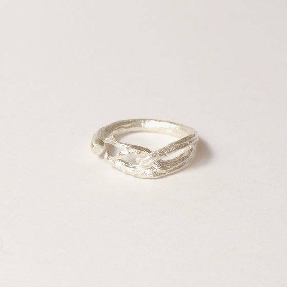 Image of Torquay Pinki Promise Ring - silver
