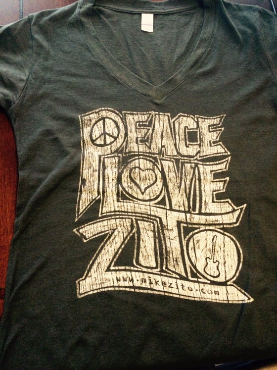 Image of NEW - LADIES V NECK T - Peace, Love, Zito