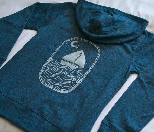 Image of Ocean by Moonlight- Organic Cotton Women's Hoodie