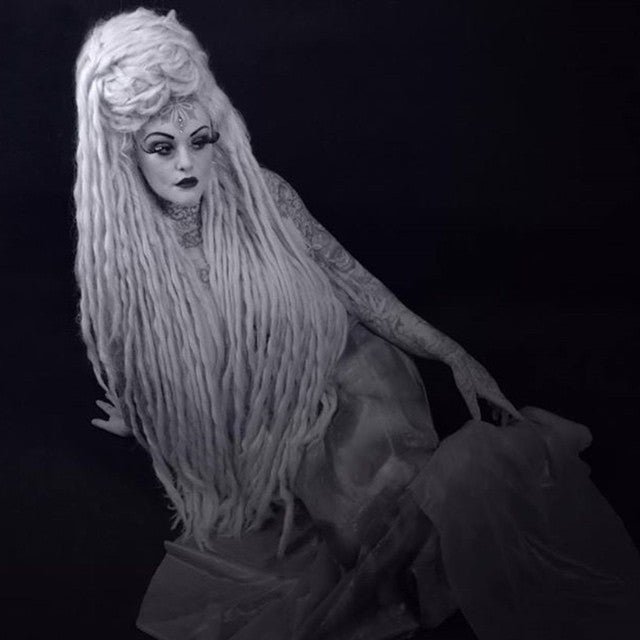 Image of Aphrodite, Lady Gaga Inspired White Blonde Dread Cosplay Wig Geisha Wigs Exclusive