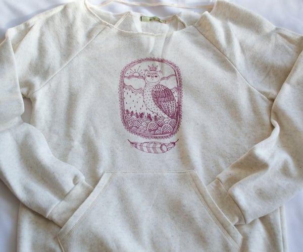 Image of Little Owl King Eco Sweatshirt-Wheat