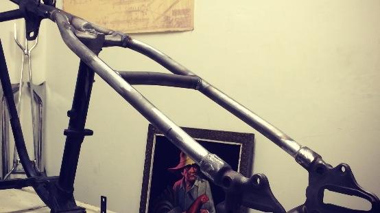 Image of Chopper rear UPPER leg